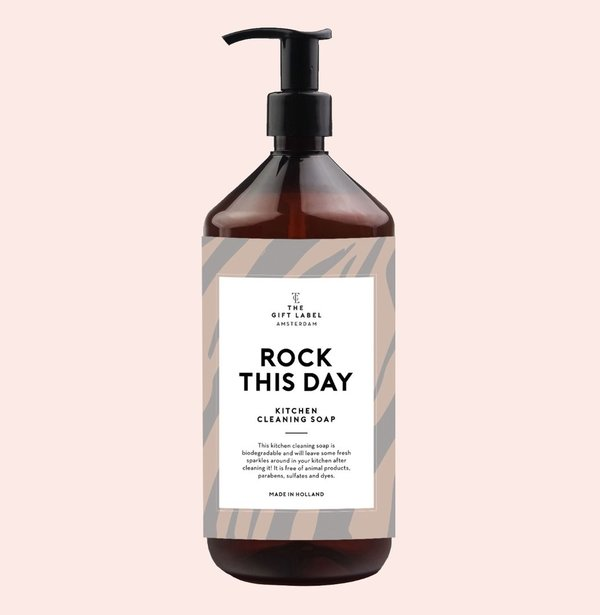 The Gift Label Kitchen Cleaning Soap, Rock This Day, tiskiaine 1000 ml