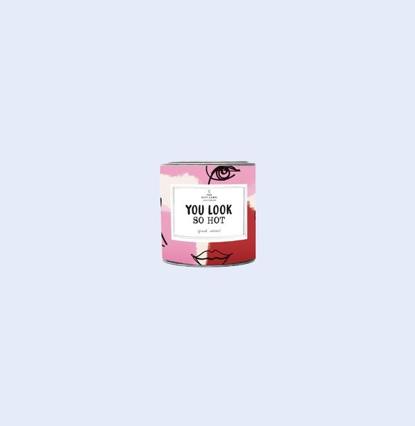 The Gift Label Candle Small, You look so hot, tuoksukynttilä 90 g